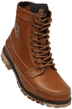 RED TAPE Mens Leather Lace Up Casual Boot