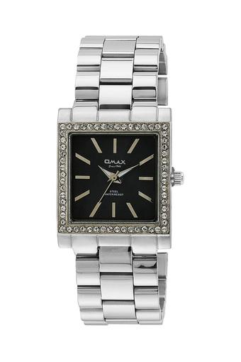 Womens Omax Masterpiece Black Dial Stainless Steel Analogue Watch - FA9-LS187