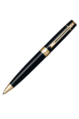 SHEAFFER 9325-2 300 Gold Trim Ballpoint Pen - Black
