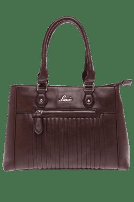 LAVIEWomens Chocolate Lyre Satchel Handbag