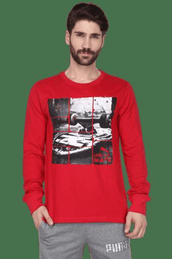 3352ce09 Mens Round Neck Full Hand T-Shirt