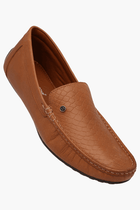 FRANCO LEONE Mens Leather Slipon Casual Loafer
