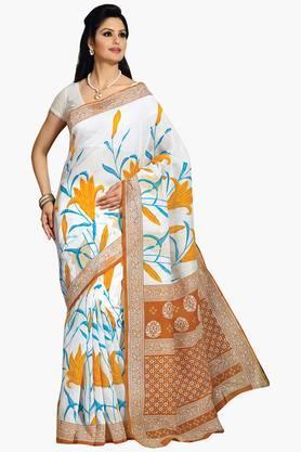 DEMARCAWomens Printed Cotton Saree