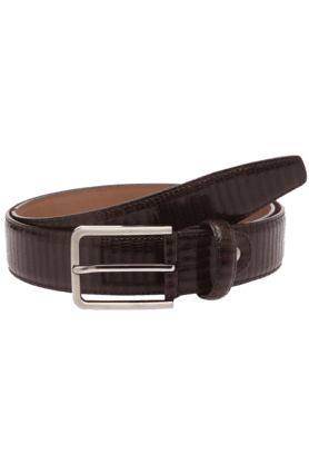 VETTORIO FRATINI Mens Brown Leather Single Pin Belt