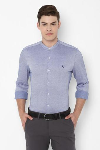 ALLEN SOLLY -  Mid Blue Shirts - Main
