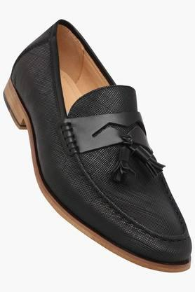 TRESMODE Mens Leather Slip On Formal Shoes
