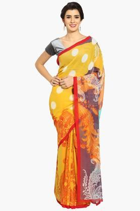 Women Paisley Print Georgette Saree