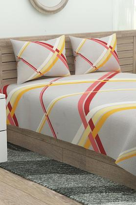 Check Double Flat Bed Sheet with Pillow Cover