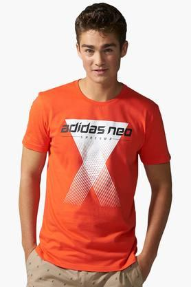 ADIDAS Mens Round Neck Printed T-Shirt - 201574448