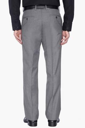 Mens Slub Formal Trousers