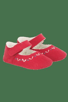 MOTHERCAREGirls Cordurouy With Embroidery Shoe (0-2 Years)