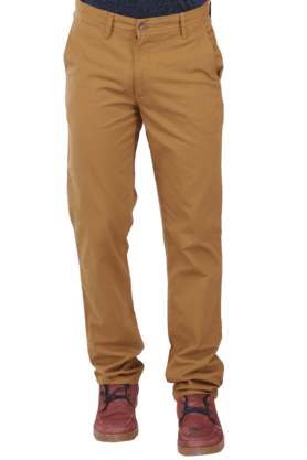 WILSTYMens Flat Front Slim Fit Solid Chinos - 200074502