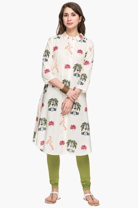 STOP Womens Collared Printed Shirt Kurta