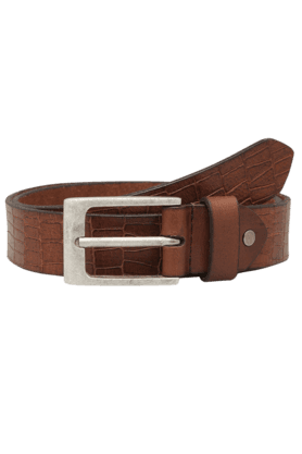 LIFE Mens Croco Print Leather Formal Belt