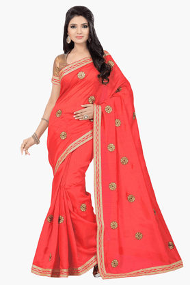 DEMARCA Womens Embroidered Saree - 201151671