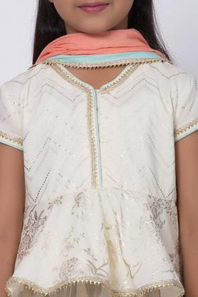 BIBA GIRLS - Off White Indianwear - 4