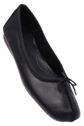 CLARKS Womens Black Slipon Casual Ballerina Shoe