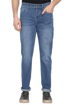 Mens 5 Pocket Mild Wash Jeans (Arthur Fit)