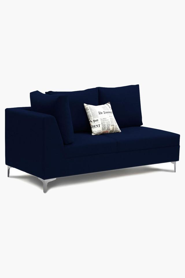 Navy Blue Water Repellent Fabric Sofa (Lounger)