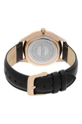 Mens Brown Dial Leather Analogue Watch - PL15399MSR12