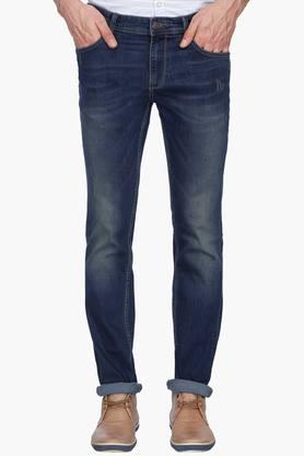 INDIAN TERRAIN Mens Slim Fit Mild Wash Jeans
