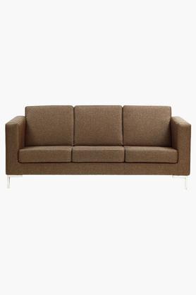 Light Brown Fabric Sofa (3 - Seater)