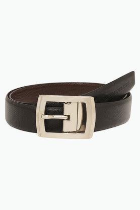 VETTORIO FRATINIMens Leather Buckle Closure Casual Belt