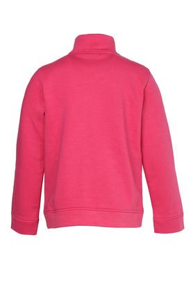 Girls Zip Through Neck Embellished Sweatshirt