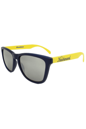 KNOCKAROUND Classic Premium Unisex Sunglasses Navy Blue/Yellow-PRGL1051 (Use Code FB20 To Get 20% Off On Purchase Of Rs.1800)