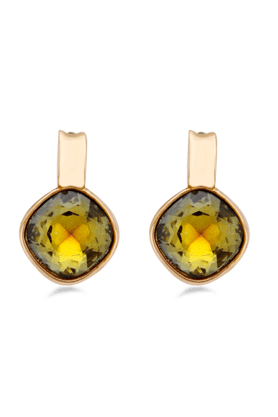 JAZZ JAZZ Jewellery Designer Earrings In Beautiful Yellow Stone Beads On It.�