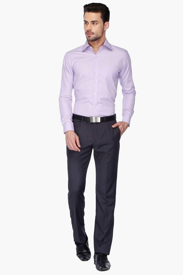 Mens Full Sleeves Slim Fit Formal Slub Shirt