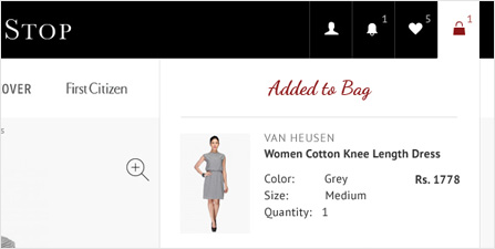 Add the items to your shopping bag
