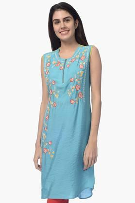 DESI BELLE Womens Printed Round Neck Kurta - 201828919