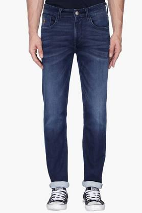 U.S. POLO ASSN. DENIM Mens Tapered Fit Mild Wash Jeans (Delta Fit)