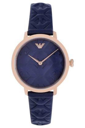 51ef97329fff X EMPORIO ARMANI Womens Navy Blue Dial Leather Analogue Watch ...