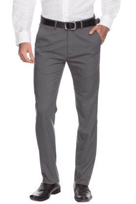 ARROW NYC Mens Flat Front Slim Fit Solid Formal Trouser