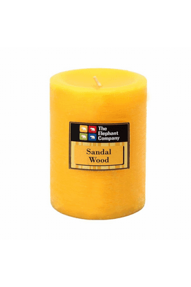 THE ELEPHANT COMPANY Pillar Candles - Scented Sandalwood