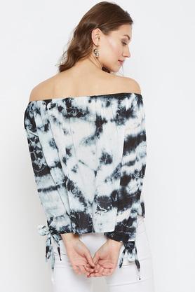 Womens Off Shoulder Printed Top