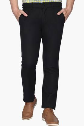 IZOD Mens Slim Fit 4 Pocket Solid Chinos