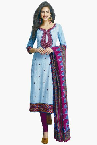 6ef1ade2305 Buy ISHIN Women Cotton Printed Unstitched Salwar Suit Dress Material ...