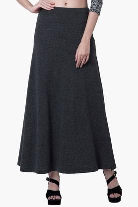 FABALLEYWomens Basic Maxi Skirt - 201827045