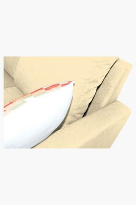LIGHT BEIGE Water Repellent Fabric Sofa (2 Seater - 1 Lounger)