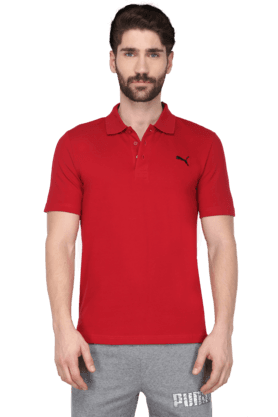 PUMA Mens Short Sleeve Solid Polo T-Shirt (Use Code FB15 To Get 15% Off On Purchase Of Rs.1200)