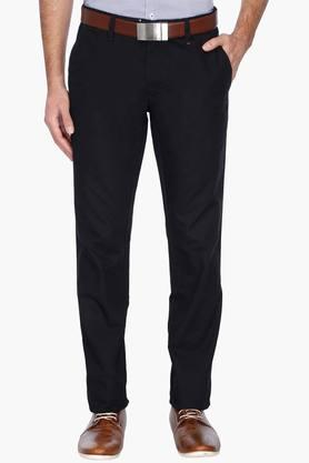 LOUIS PHILIPPE SPORTS Mens Slim Fit Solid Chinos