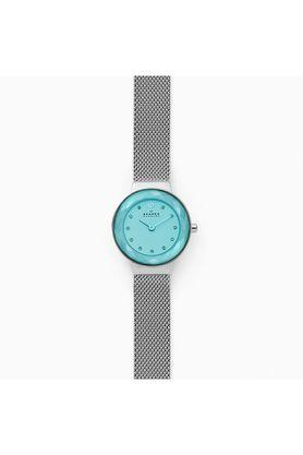 Womens Turquoise Dial Metallic Analogue Watch - SKW2767