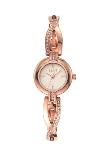 Womens Monge Cream Dial Stainless Steel Analogue Watch - ELL21016