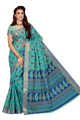 ASHIKA Womens Printed Cotton Saree - 201039462