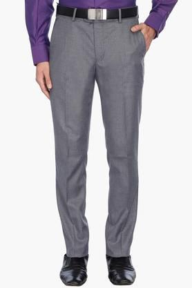 LOUIS PHILIPPE Mens 4 Pocket Slub Formal Trousers - 201758403