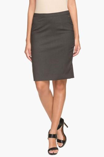 Womens Basic Straight Fit Skirt
