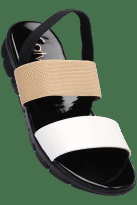 CATWALKWomens Black Slipon Platform Sandal